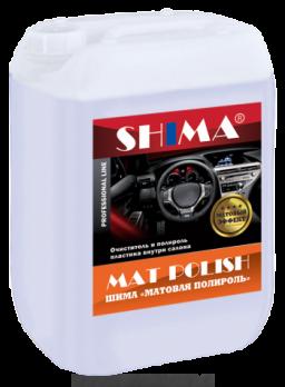 Очиститель-полироль пластика SHIMA MAT POLISH с матовым эффектом (Шима Матполиш)